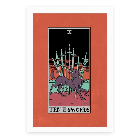 The Ten Of Swords Poster