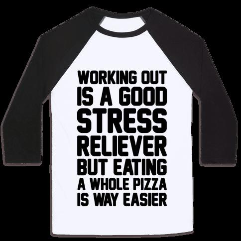 Pizza Workout Baseball Tee