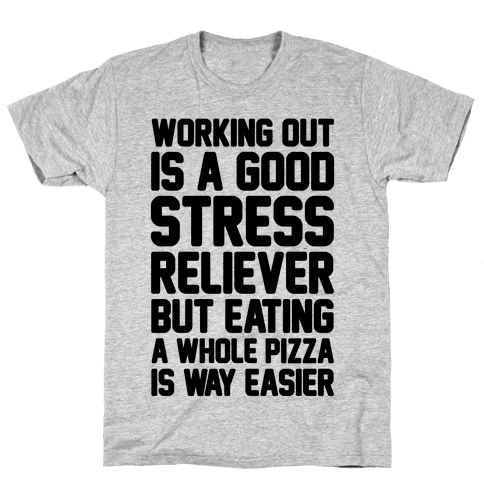 Pizza Workout Mens T-Shirt