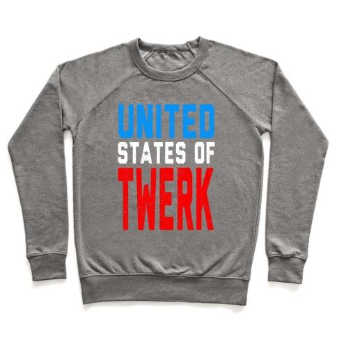 United States Of Twerk Juniors Crewneck Sweatshirt Lookhuman