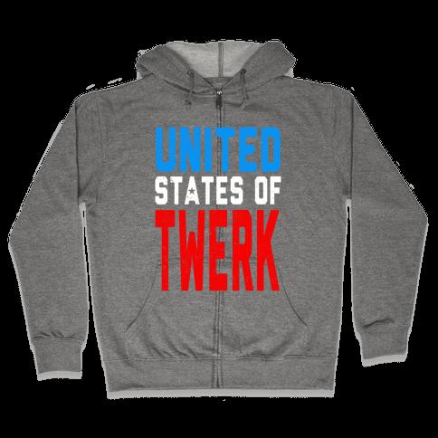 United States of TWERK (Juniors) Zip Hoodie