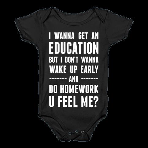 Education Baby Onesy