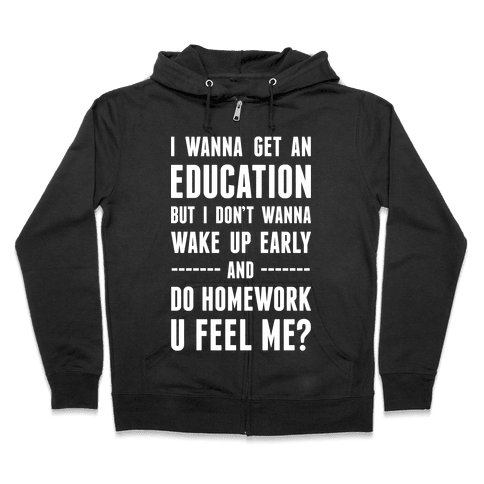 Education Zip Hoodie
