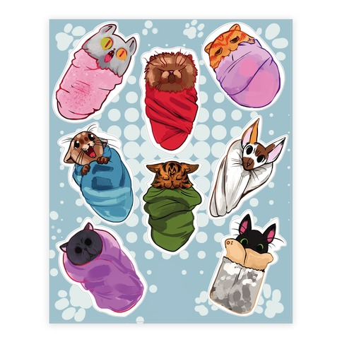 Purrito Sticker and Decal Sheet