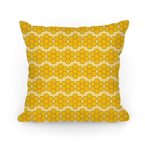 Honey Comb Pattern Pillow
