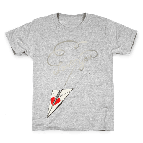 Love Letter Paper Airplane Kids T-Shirt