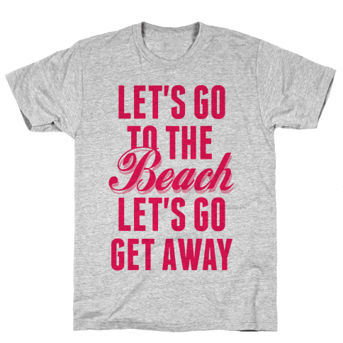 Let's Go To The Beach (Pink) Mens T-Shirt