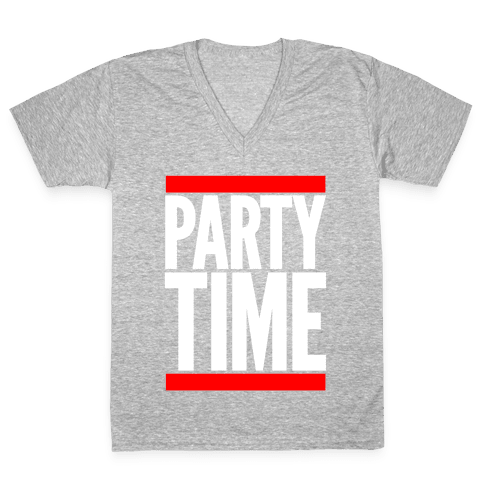 Party Time V-Neck Tee Shirt