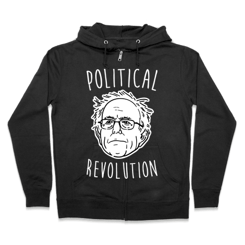 Bernie Political Revolution Zip Hoodie