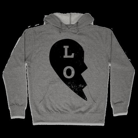 "Love ""Lo"" Couples Shirt Hooded Sweatshirt"