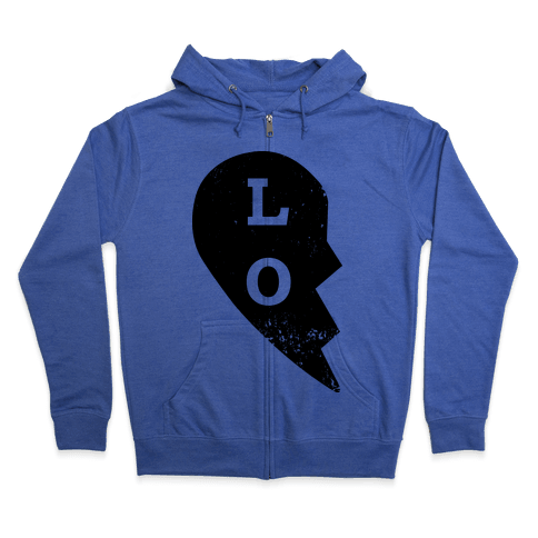 "Love ""Lo"" Couples Shirt Zip Hoodie"