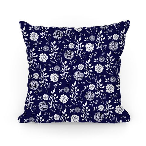 Navy Whimsical Floral Pattern