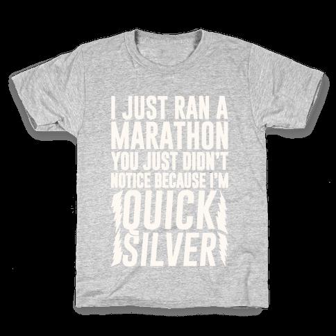 I Just Ran A Marathon Kids T-Shirt