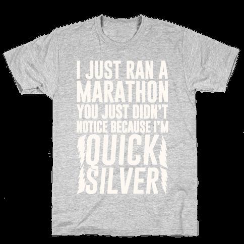I Just Ran A Marathon Mens T-Shirt