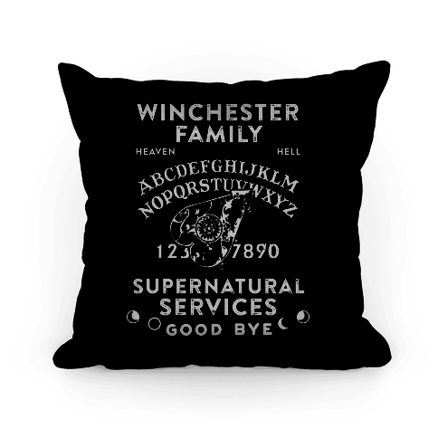 Winchester Family Ouija Board Pillow