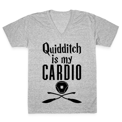 Quidditch Is My Cardio V-Neck Tee Shirt