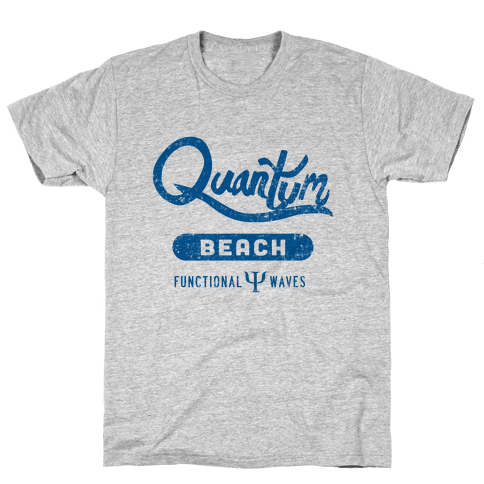 Quantum Beach - Wave Function Mens T-Shirt