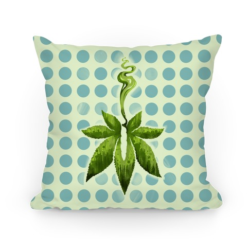 Green Leaf- Cannabis Pillow