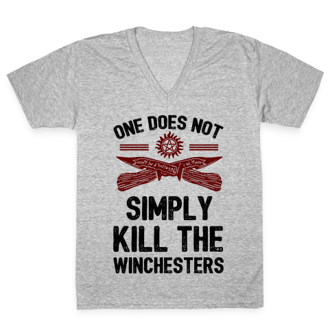 One Does Not Simply Kill The Winchesters V-Neck Tee Shirt