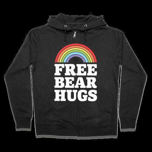 Free Bear Hugs Zip Hoodie