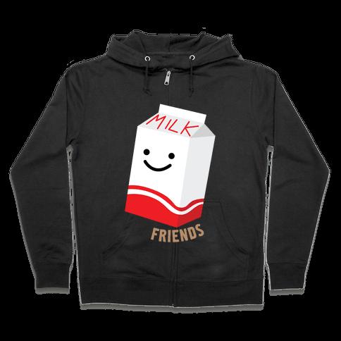 Best Milk Zip Hoodie