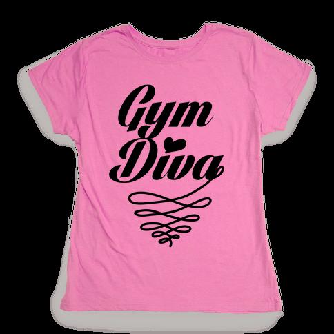 Gym Diva Womens T-Shirt