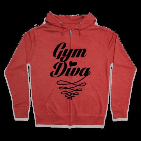Gym Diva Zip Hoodie