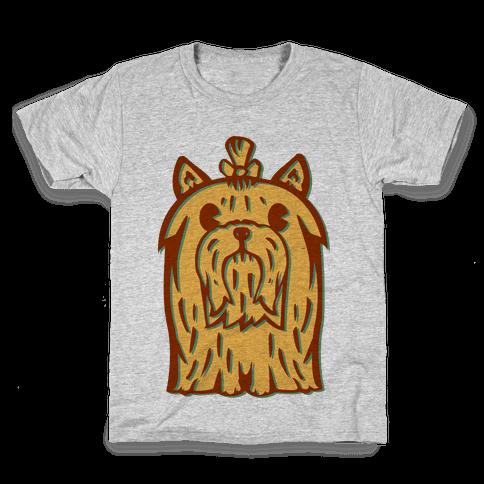 Yorkshire Terrier Vintage Illustration Kids T-Shirt