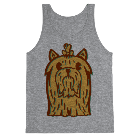 Yorkshire Terrier Vintage Illustration Tank Top