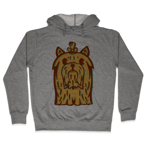 Yorkshire Terrier Vintage Illustration Hooded Sweatshirt