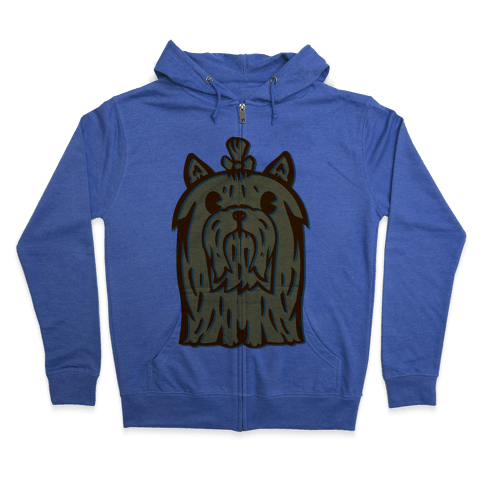 Yorkshire Terrier Vintage Illustration Zip Hoodie