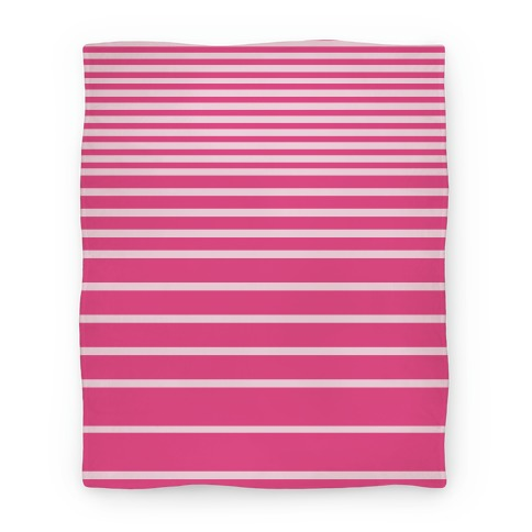 Pink Stripe Blanket Blanket