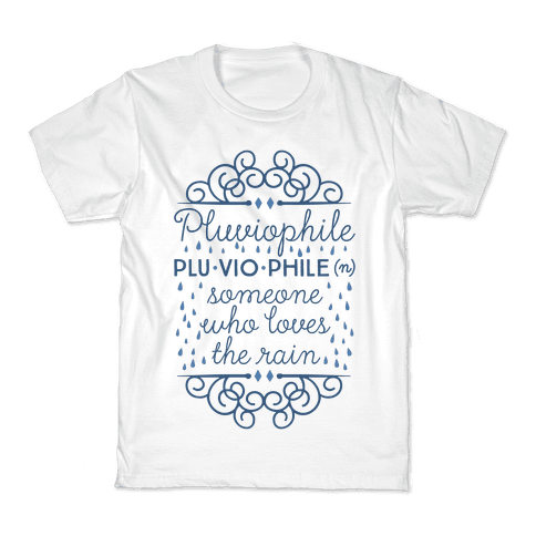 Pluviophile Definition Kids T-Shirt