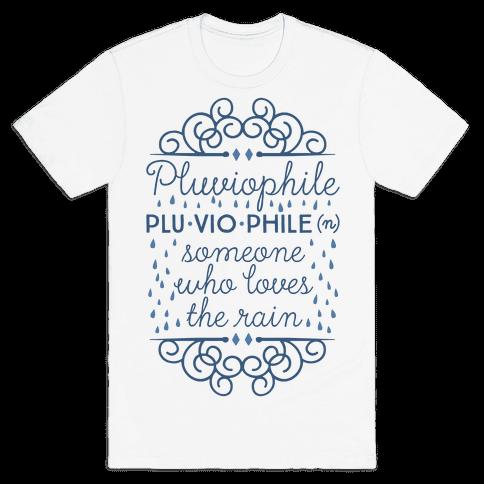 Pluviophile Definition Mens T-Shirt