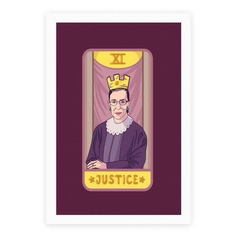 Ruth Bader Ginsburg Justice Tarot Poster