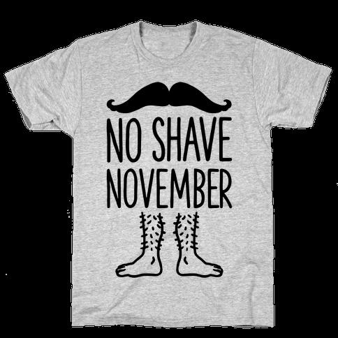 No Shave November Mens T-Shirt
