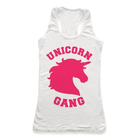 Unicorn Gang Racerback Tank Top