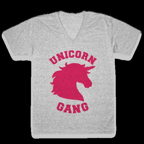Unicorn Gang V-Neck Tee Shirt