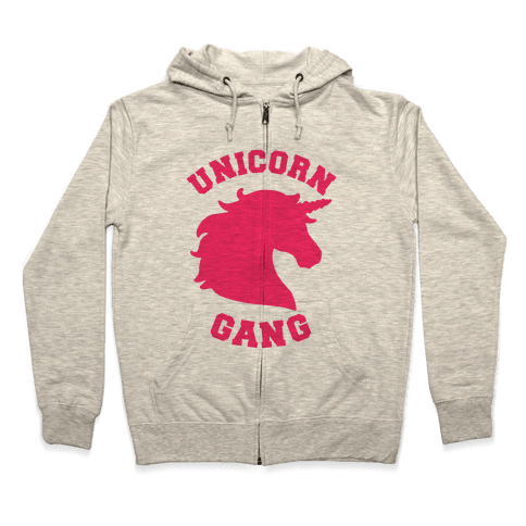 Unicorn Gang Zip Hoodie