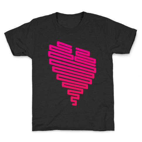 Neon Heart (Gradient) Kids T-Shirt
