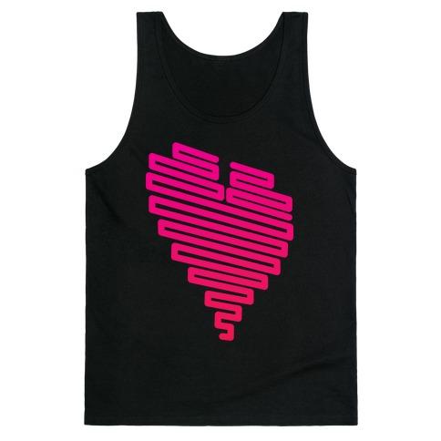 Neon Heart (Gradient) Tank Top