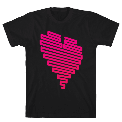 Neon Heart (Gradient) Mens T-Shirt