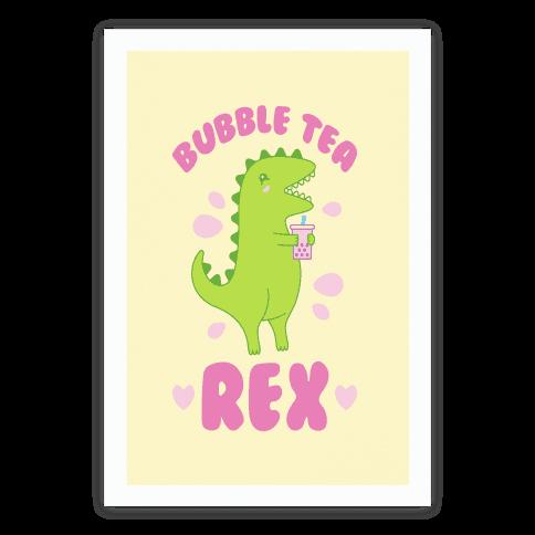 Bubble Tea Rex Poster