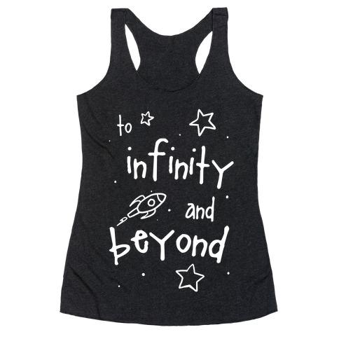 To Infinity... Racerback Tank Top