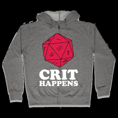 Crit Happens Zip Hoodie