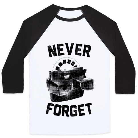 Never Forget (Viewmaster) Baseball Tee