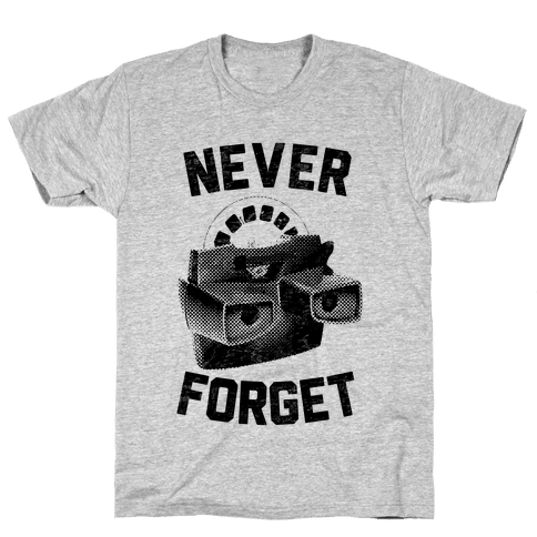 Never Forget (Viewmaster) Mens T-Shirt