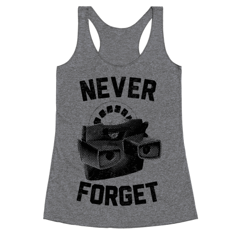 Never Forget (Viewmaster) Racerback Tank Top
