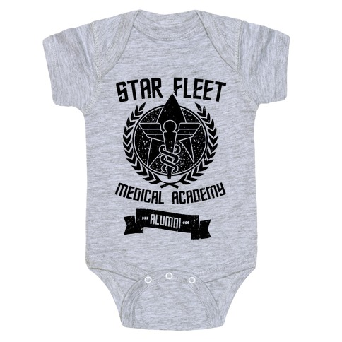 Star Fleet Medical Academy Alumni Baby Onesy