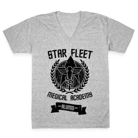 Star Fleet Medical Academy Alumni V-Neck Tee Shirt